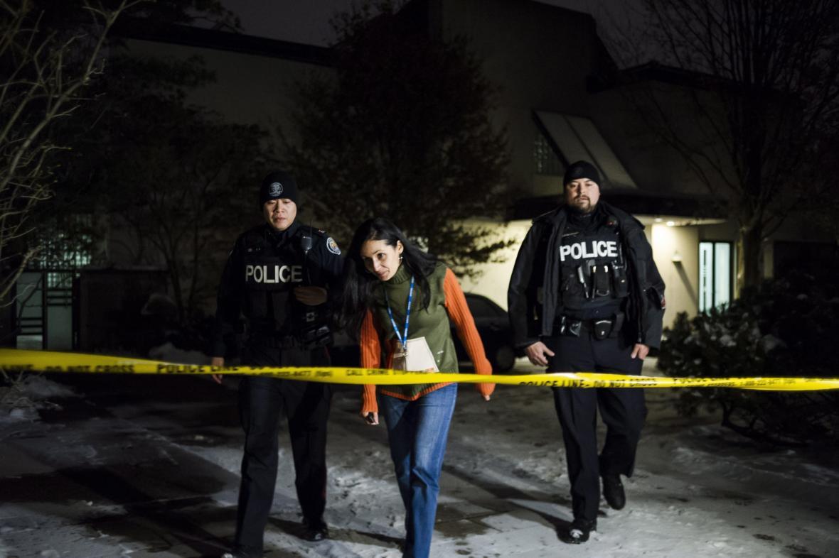 Kanadská policie na místě činu. Ilustrační foto