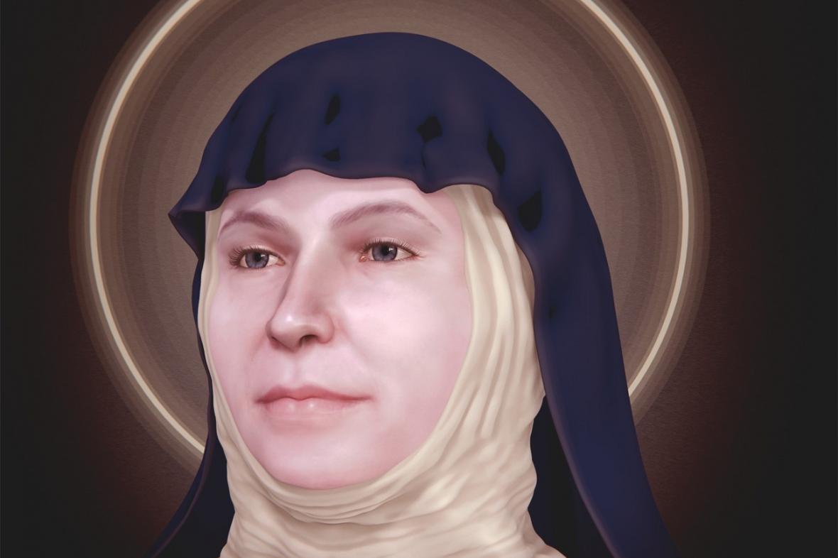 Rekonstrukce tváře svaté Zdislavy