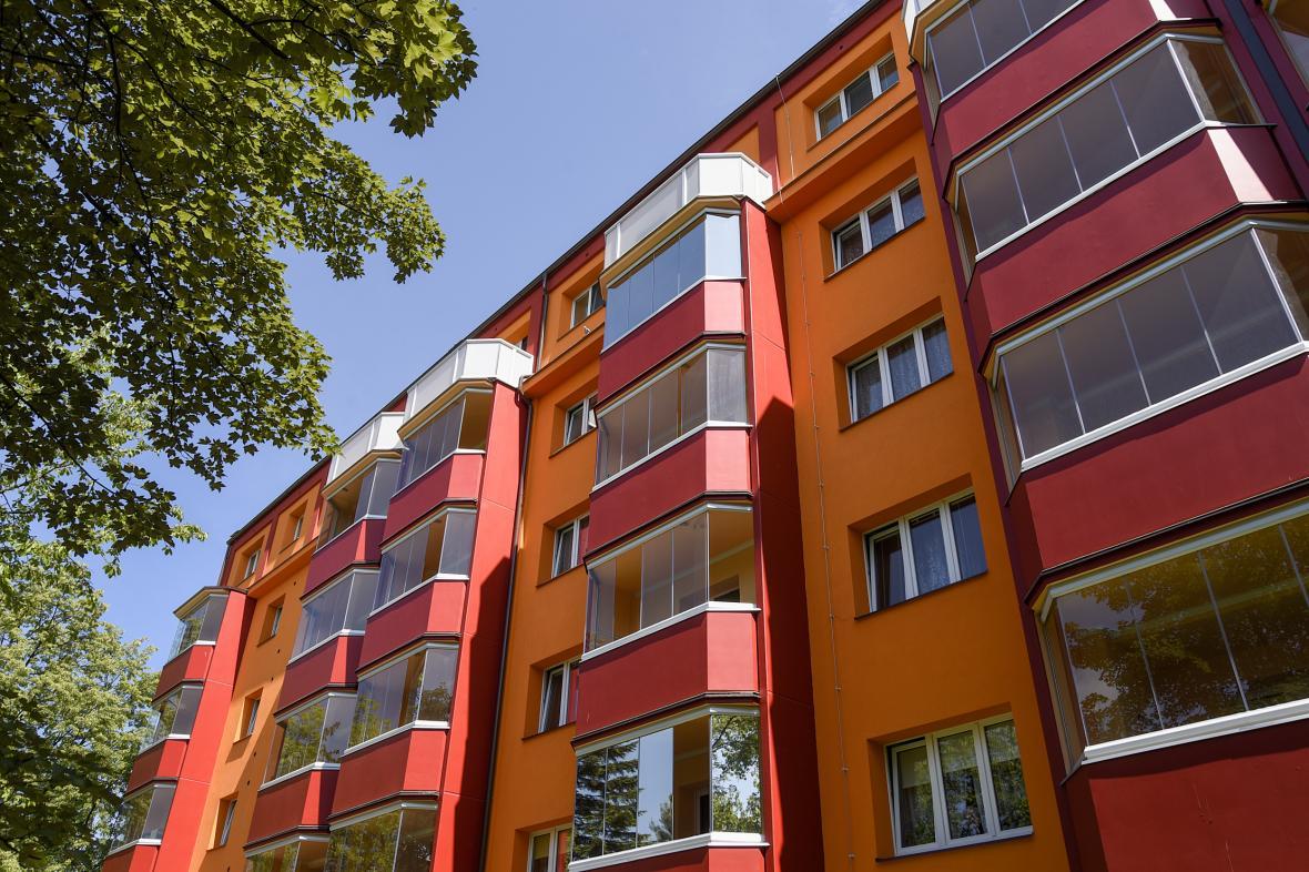 Revitalizované panelové domy v Karviné
