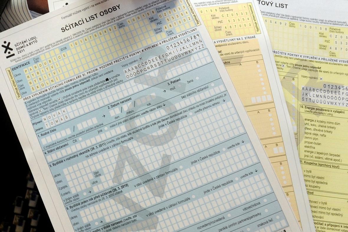 Sčítání lidu, formuláře z roku 2011