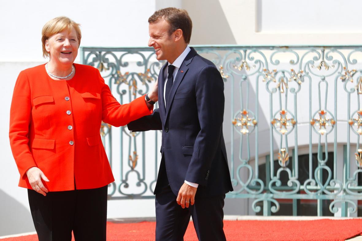 Angela Merkelová a Emmanuel Macron