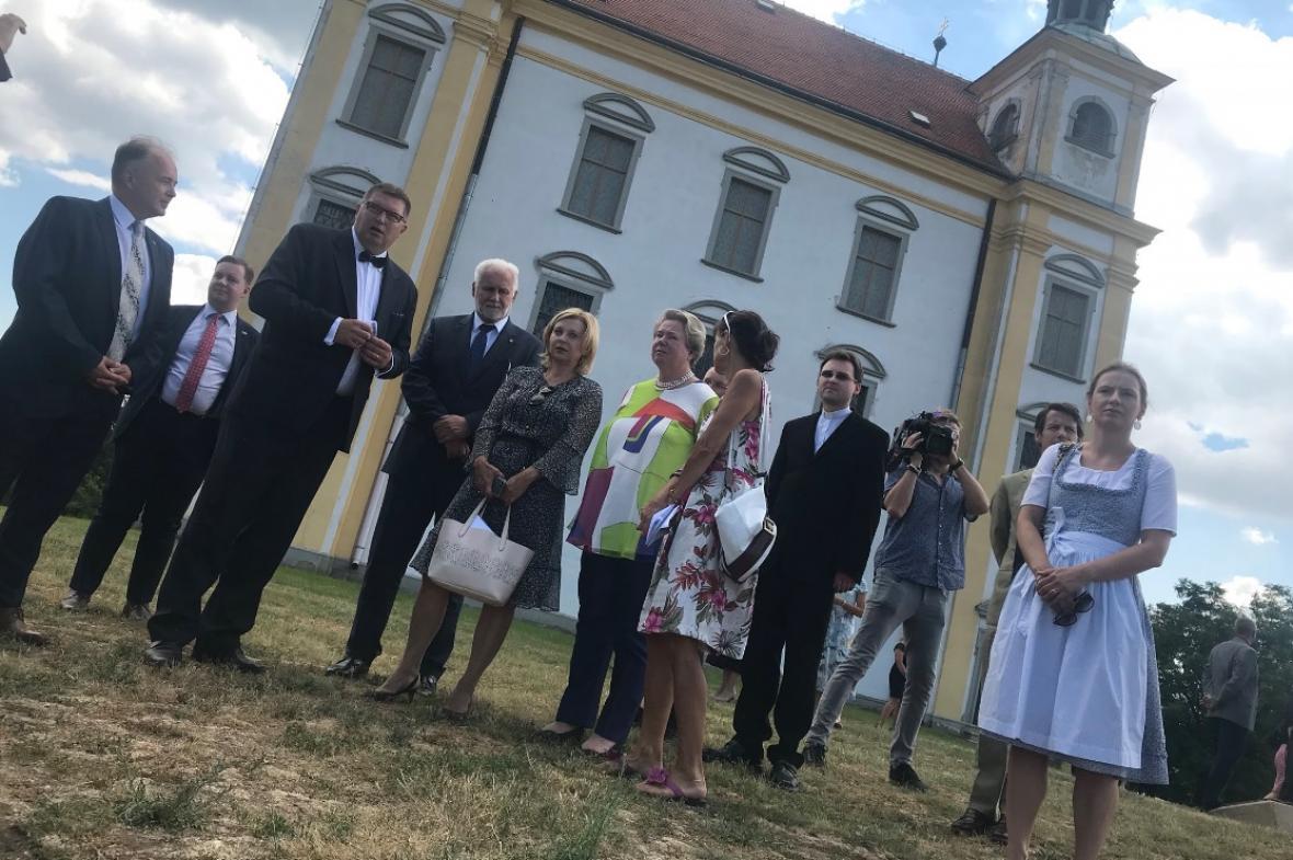 Návštěva Lichtenštejnů v Moravském Krumlově