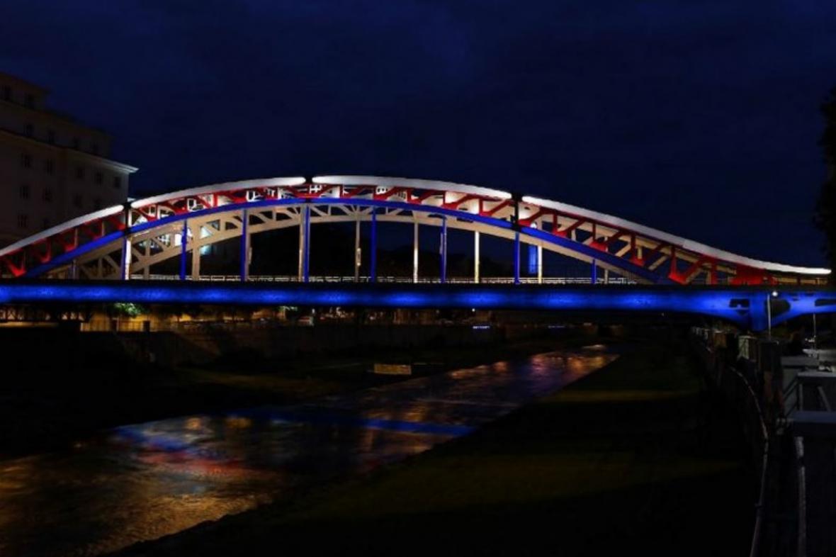 Vizualizace osvětlení Mostu Miloše Sýkory