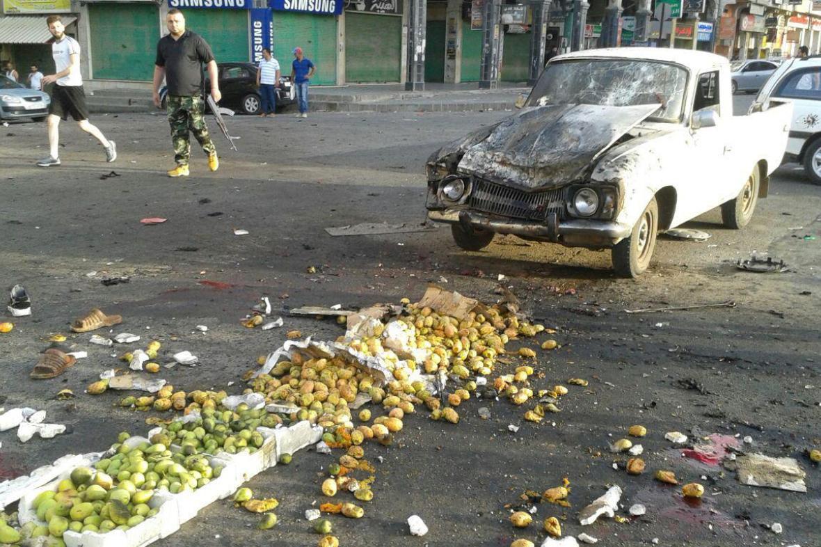 Tržiště v Suvajdá po útoku