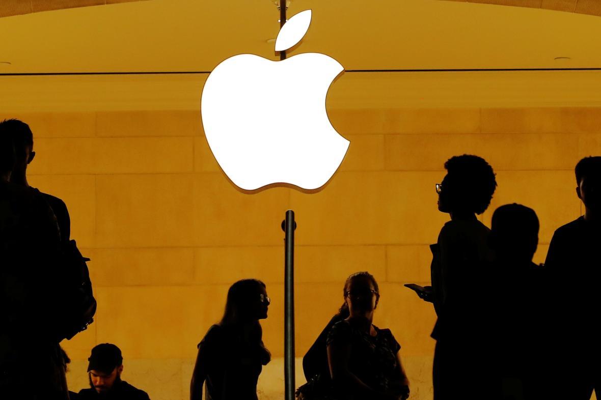 Logo společnosti Apple.