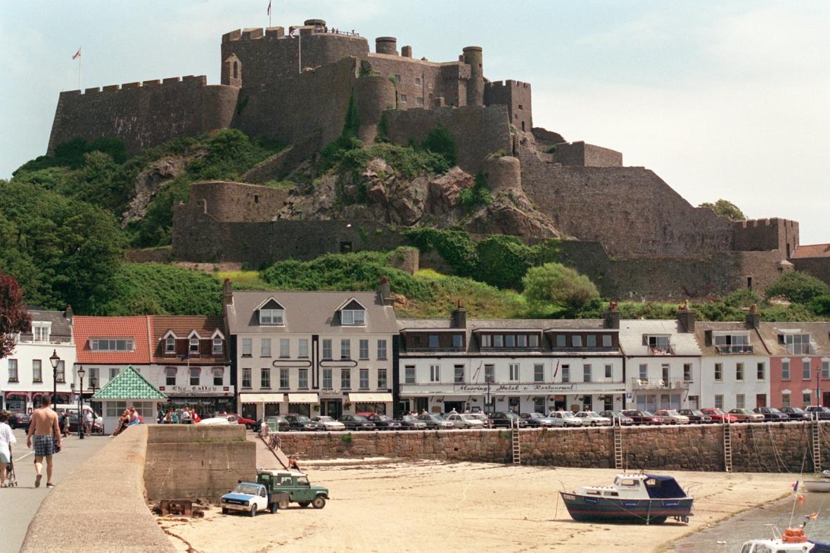 Hrad Mount Orgueil na ostrově Jersey