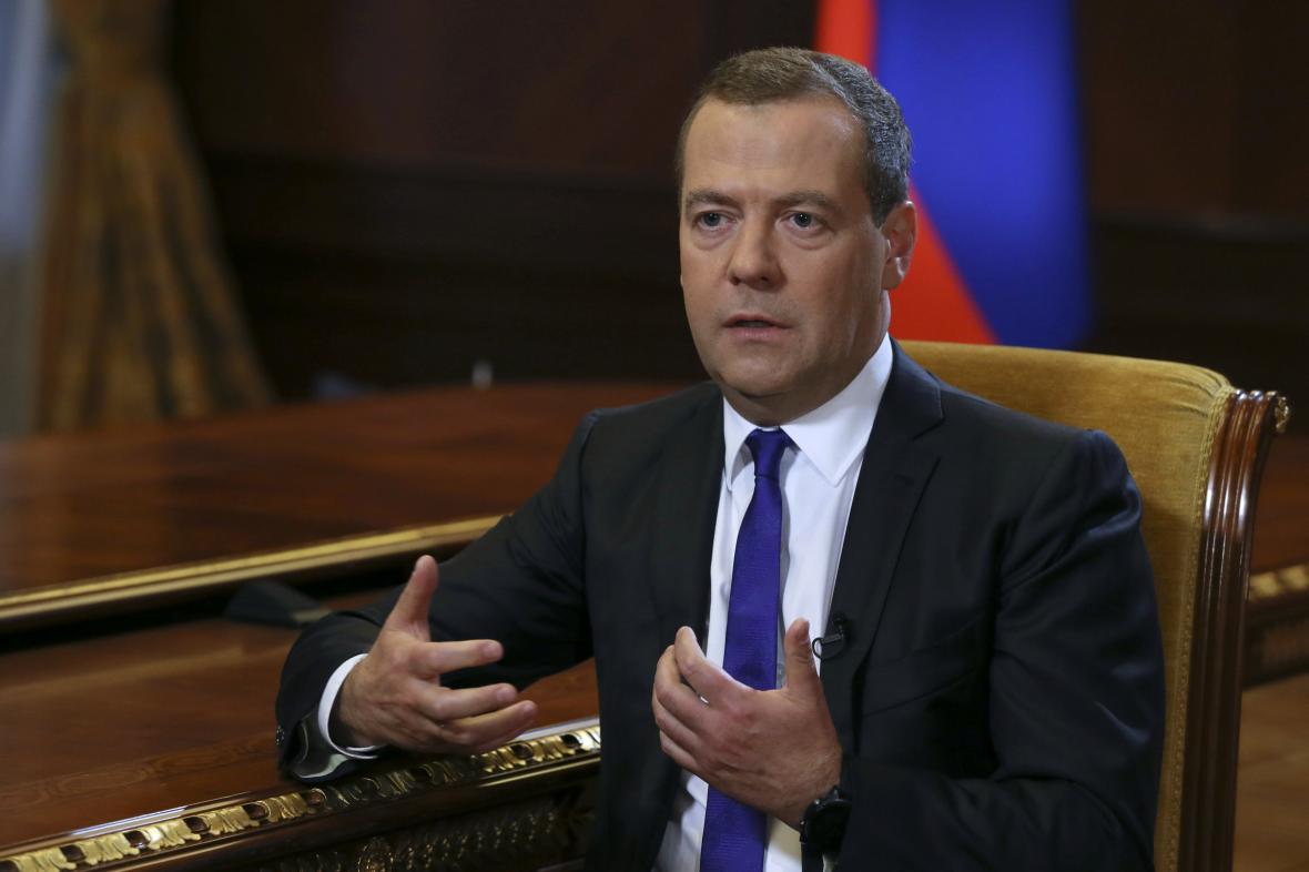 Ruský premiér Dmitry Medveděv