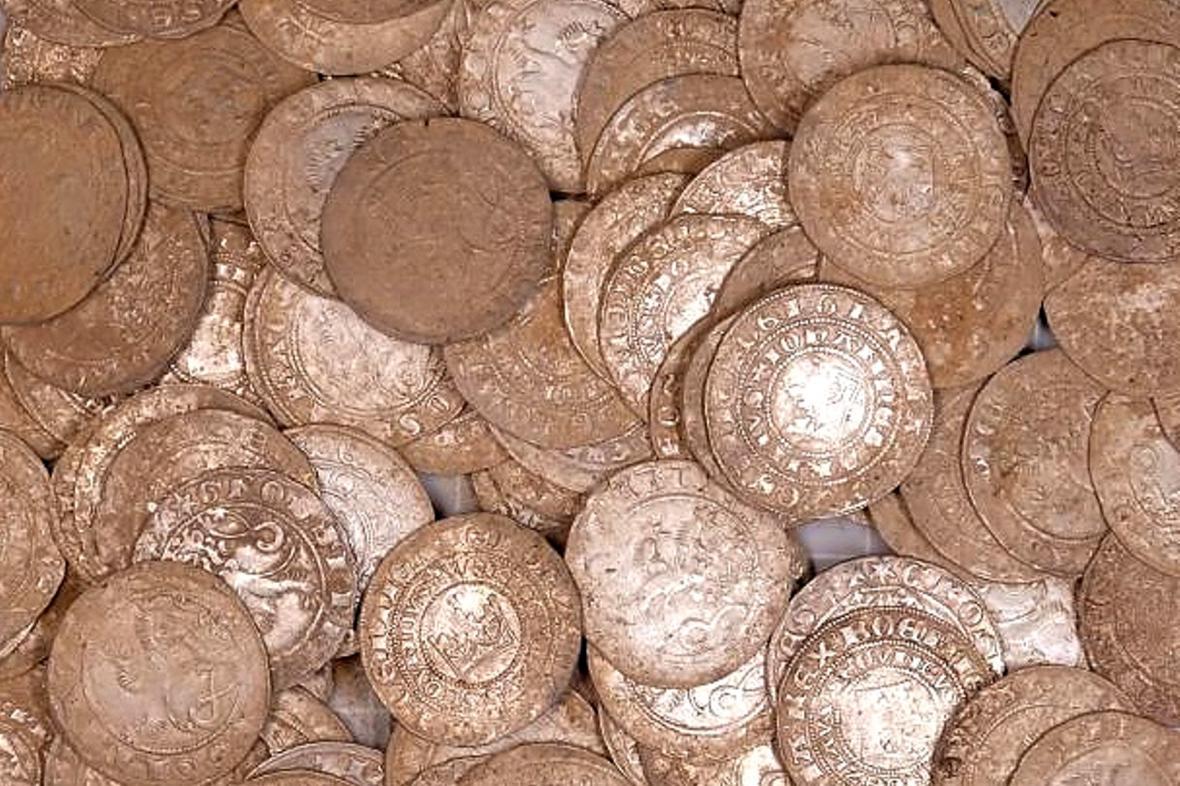 Nalezené mince ze 14. století