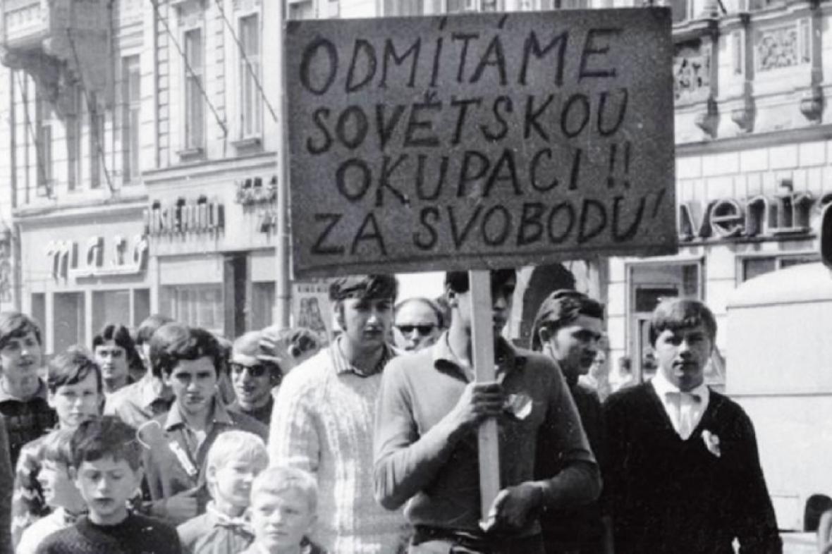 Dobová fotografie z Olomouce z roku 1968