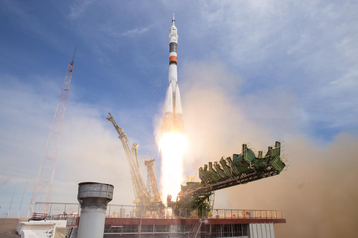 Start ruské rakety k ISS