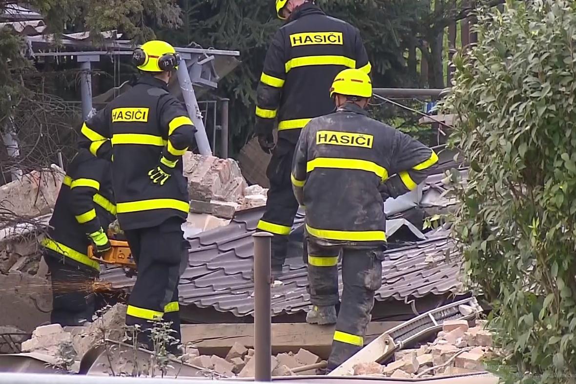Zásah hasičů v Českém Těšíně