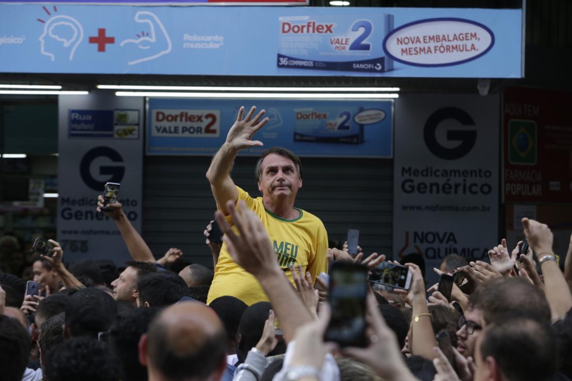 Brazilský kandidát na prezidenta Jair Bolsonaro