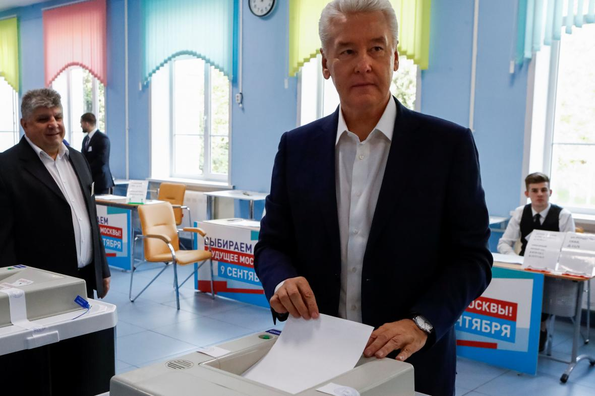 Moskevský starosta Sergej Sobjanin