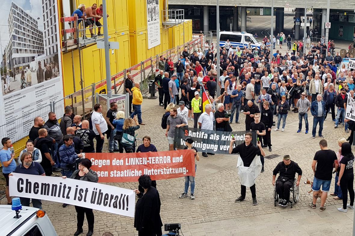 Demonstrace v Halle