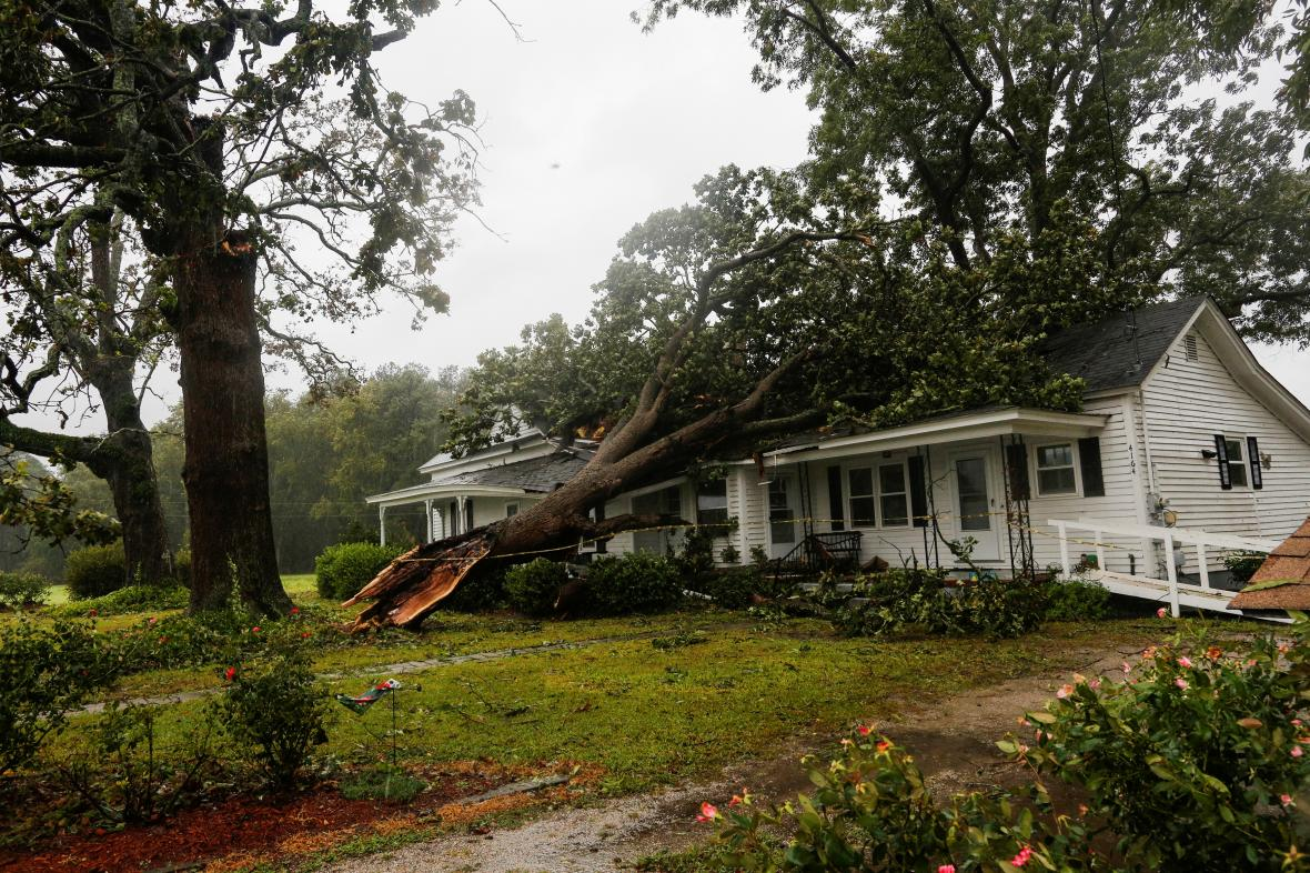 Tropická bouře Florence pustoší Spojené státy