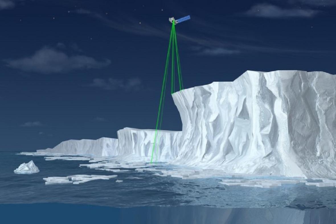Měření planetárního ledu - ilustrační foto