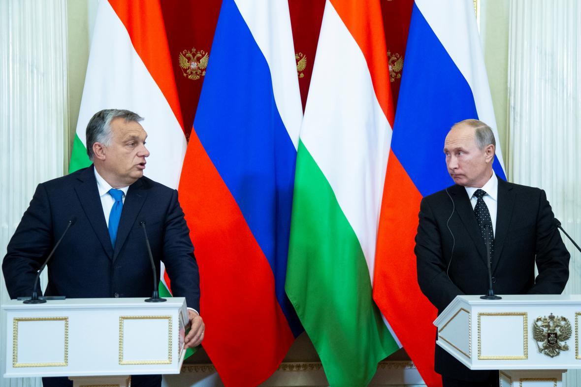 Maďarský premiér Viktor Orbán se setkal v Moskvě s ruským prezidentem Vladimirem Putinem