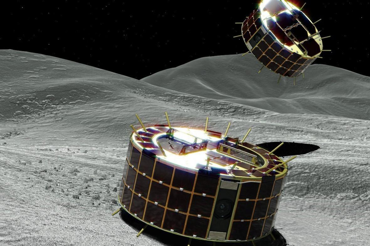 Poskakující roboti na asteroidu Ryugu
