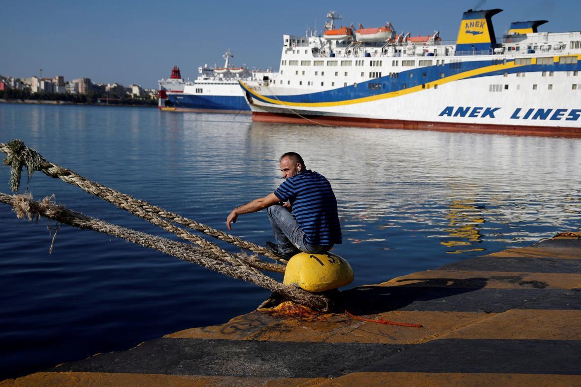 Začátkem září stávkovali řečtí námořníci kvůli mzdám