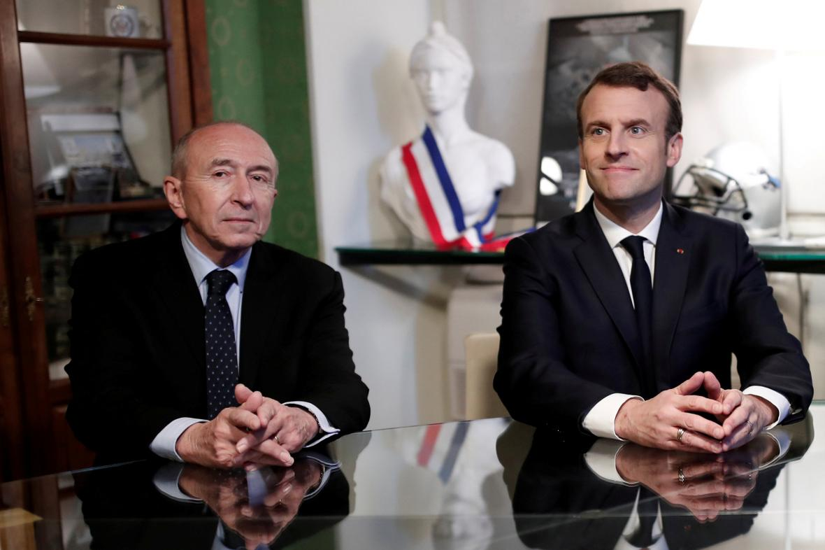 Bernard Collomb a Emmanuel Macron