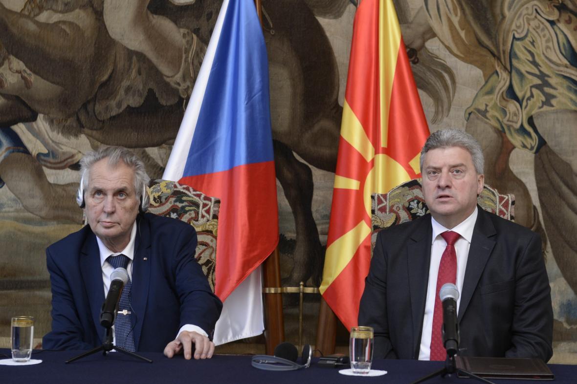 Miloš Zeman a Ďorge Ivanov na Pražském hradě