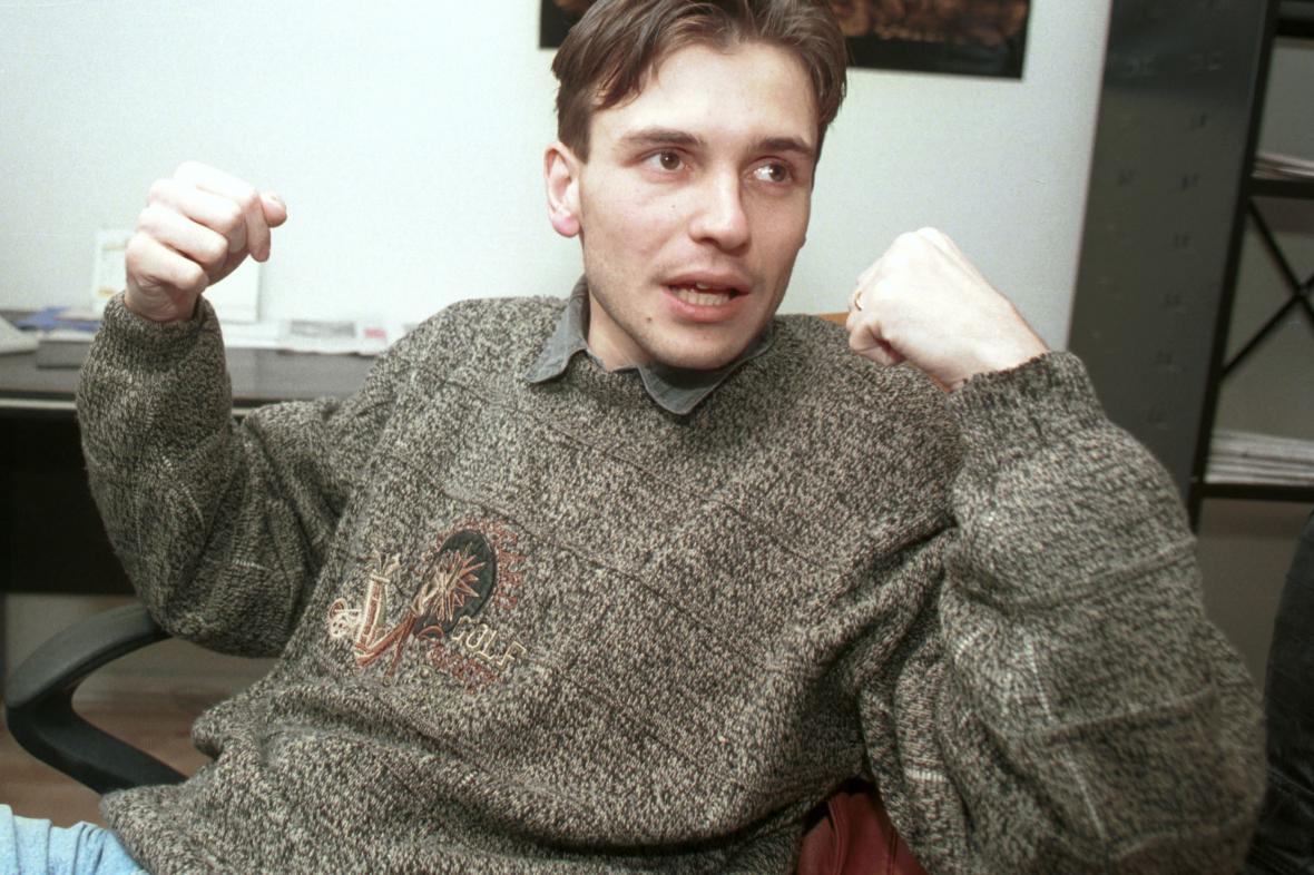 Peter Tóth na snímku z roku 1995