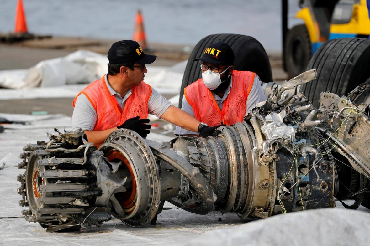 Trosky letadla společnosti Lion Air