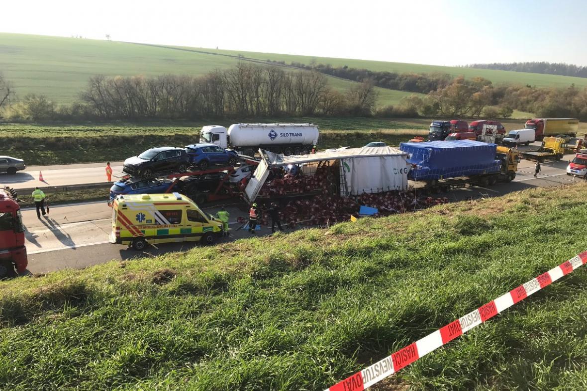 Dálnici D1 zablokovala smrtelná nehoda