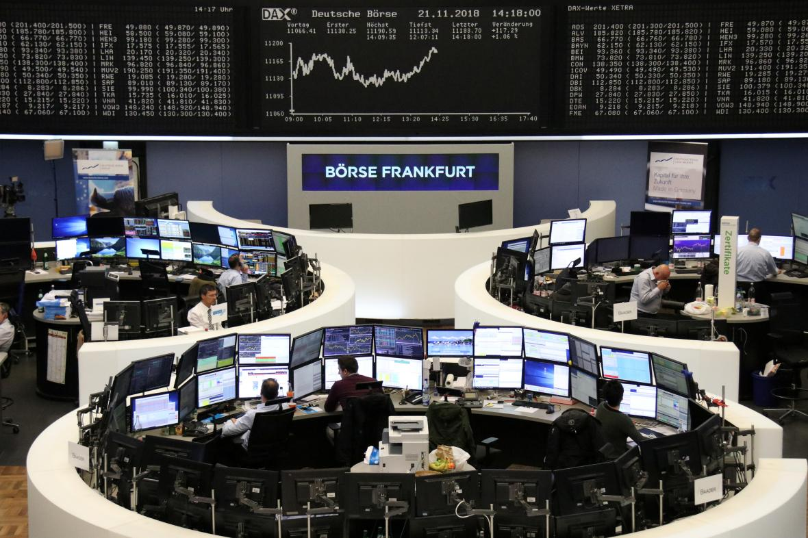 Pohled na frankfurtskou burzu