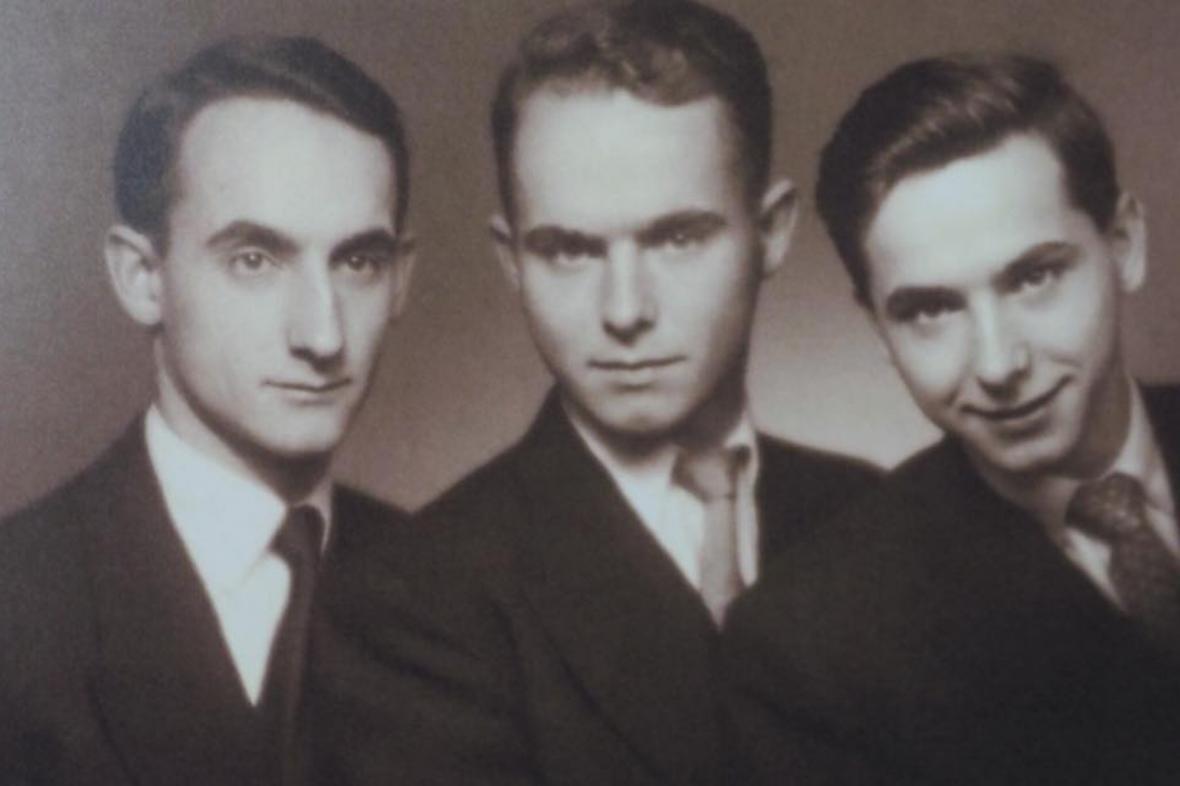 Paul Ort (vpravo) s bratry