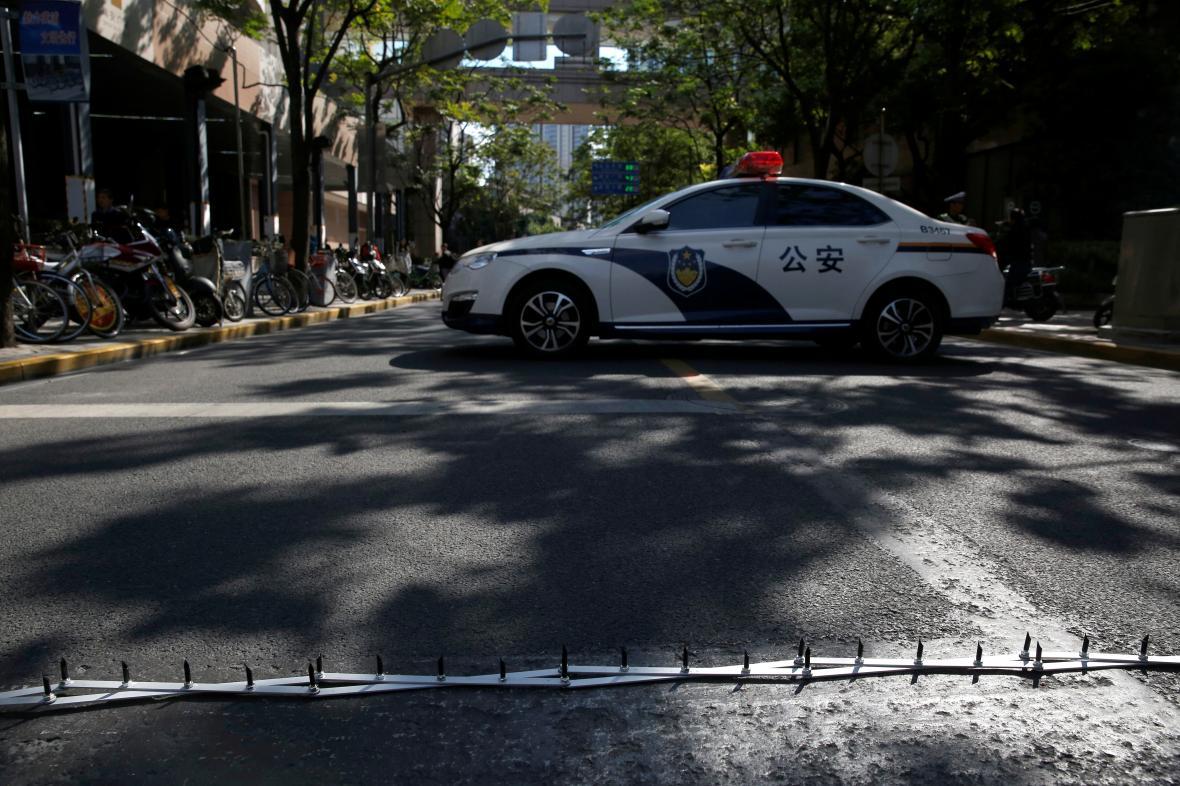 Čínské policejní auto