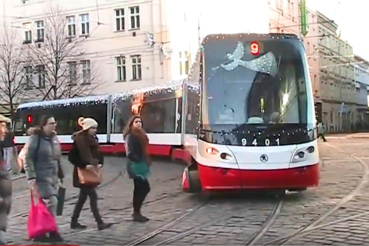 Letos pojede nazdobená tramvaj na dvou linkách