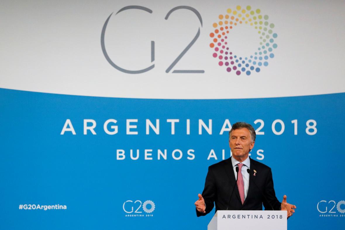 Argentinský prezident Mauricio Macri na sumitu G20 v Buenos Aires