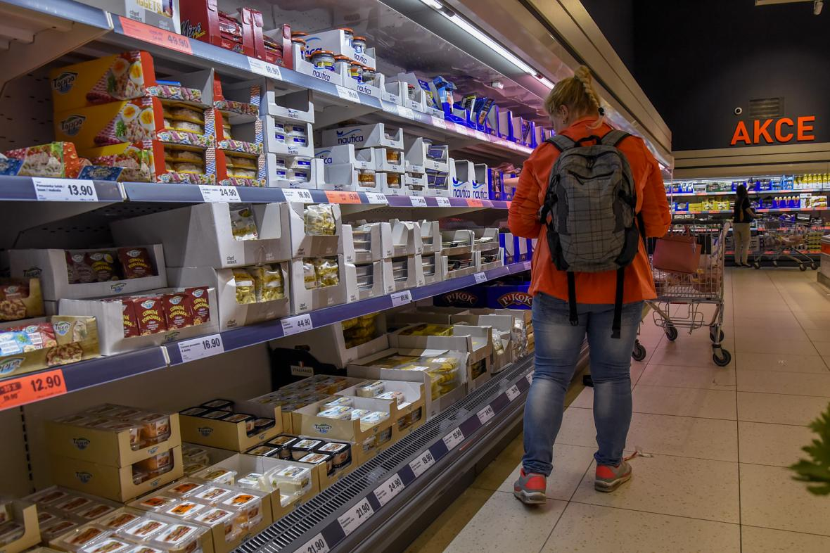 Nově zrekonstruovaný supermarket Lidl v Hradci Králové.