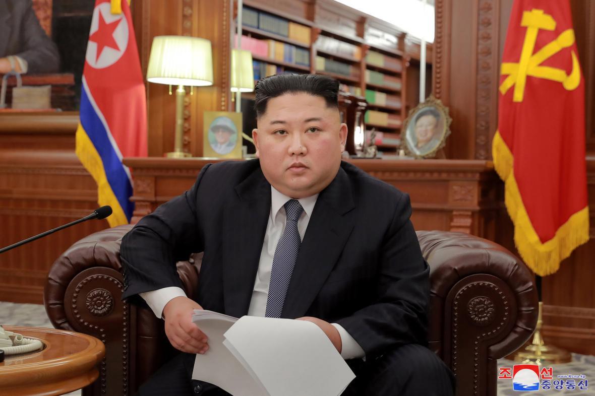 Kim Čong-un během novoročního projevu