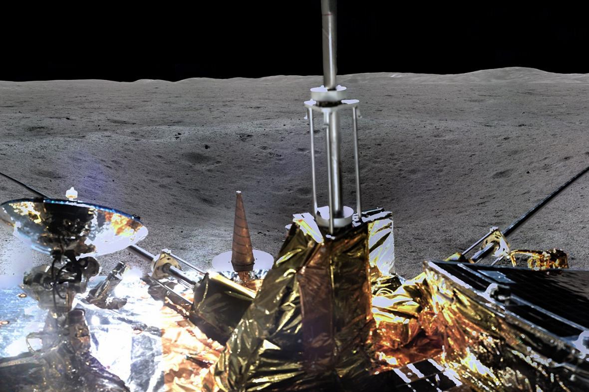Snímek z odvrácené straně Měsíce