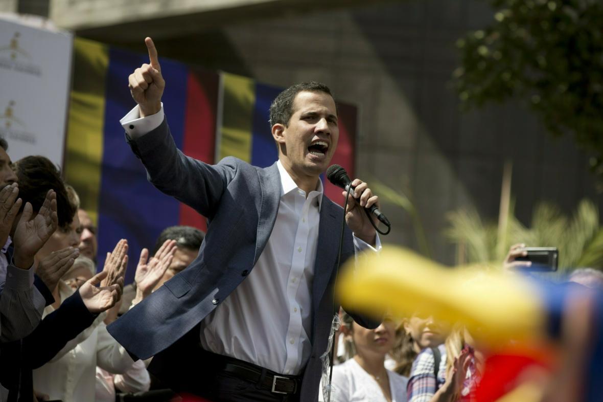 Vůdce venezuelské opozice Juan Guaidó, kterého Trump uznal za prezidenta
