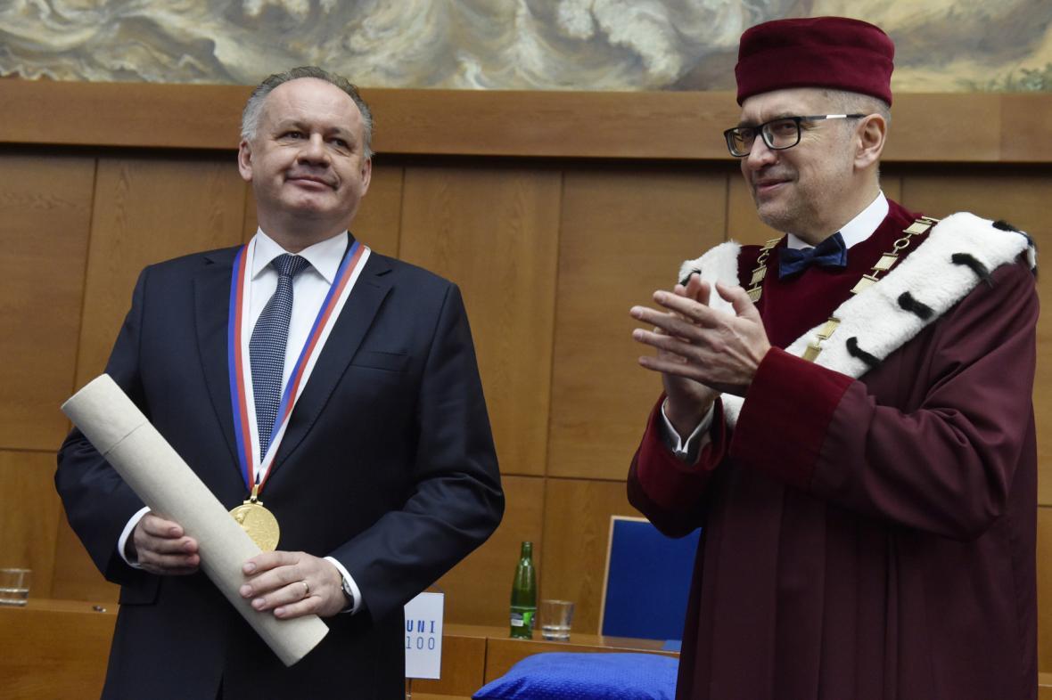 Andrej Kiska a Mikuláš Bek