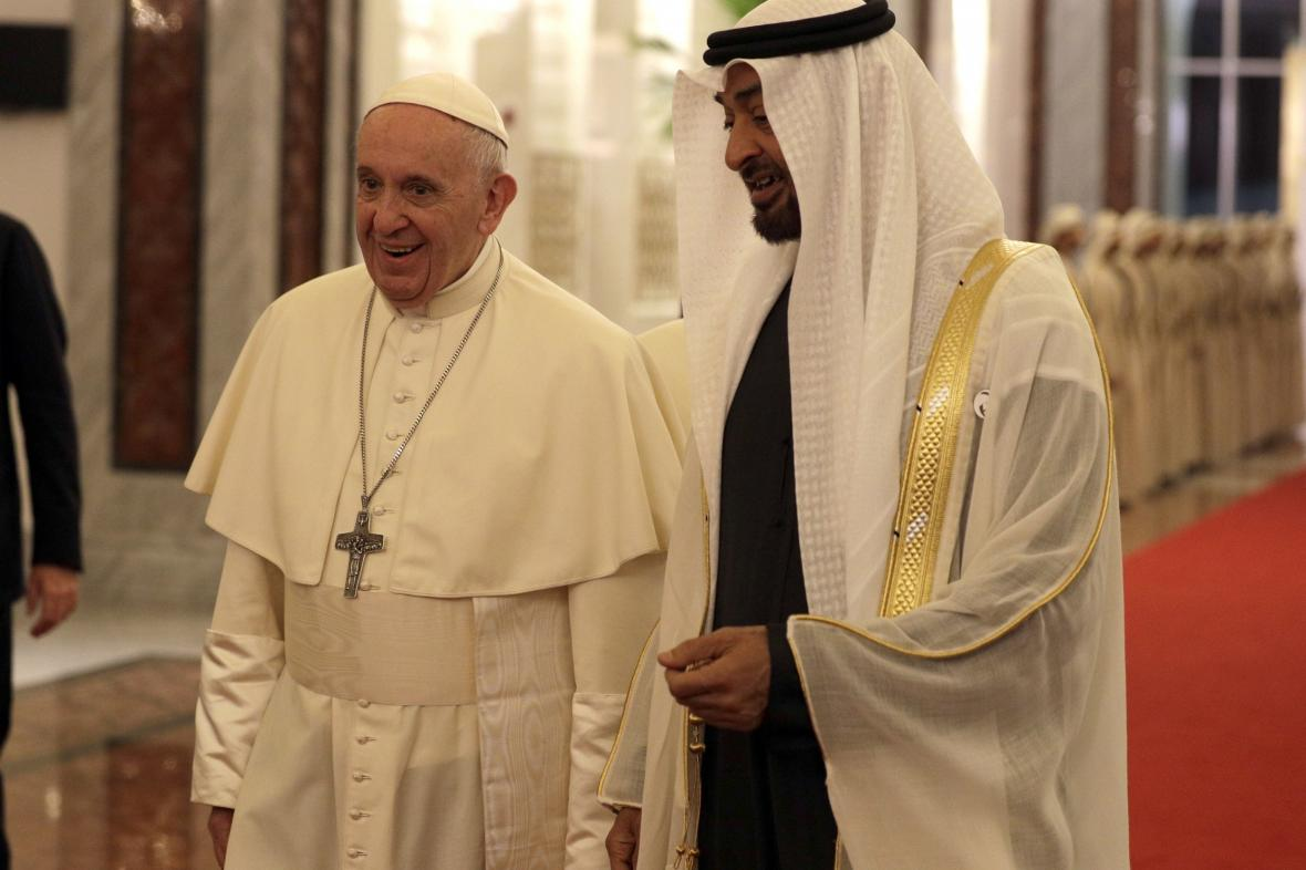 Papež František a šajch Muhammad bin Zajd Nahaján