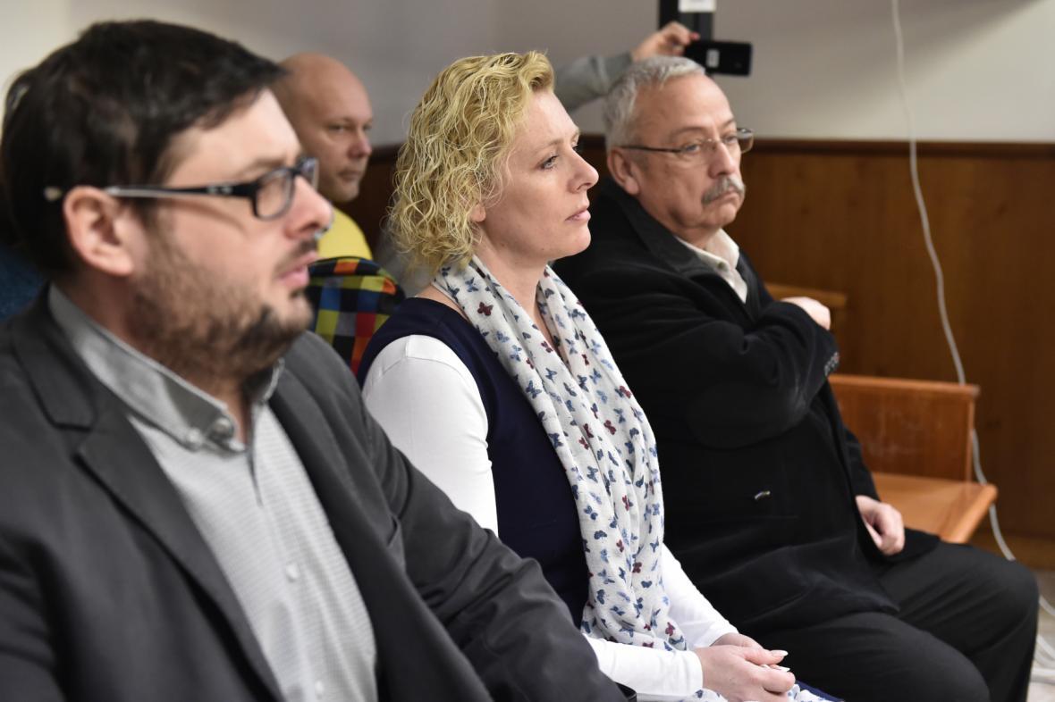 Chropyňská starostka a tajemníci městského úřadu