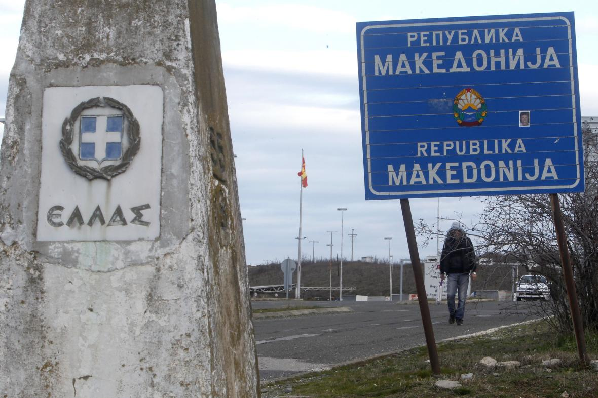 Hranice mezi Řeckem a Severní Makedonií
