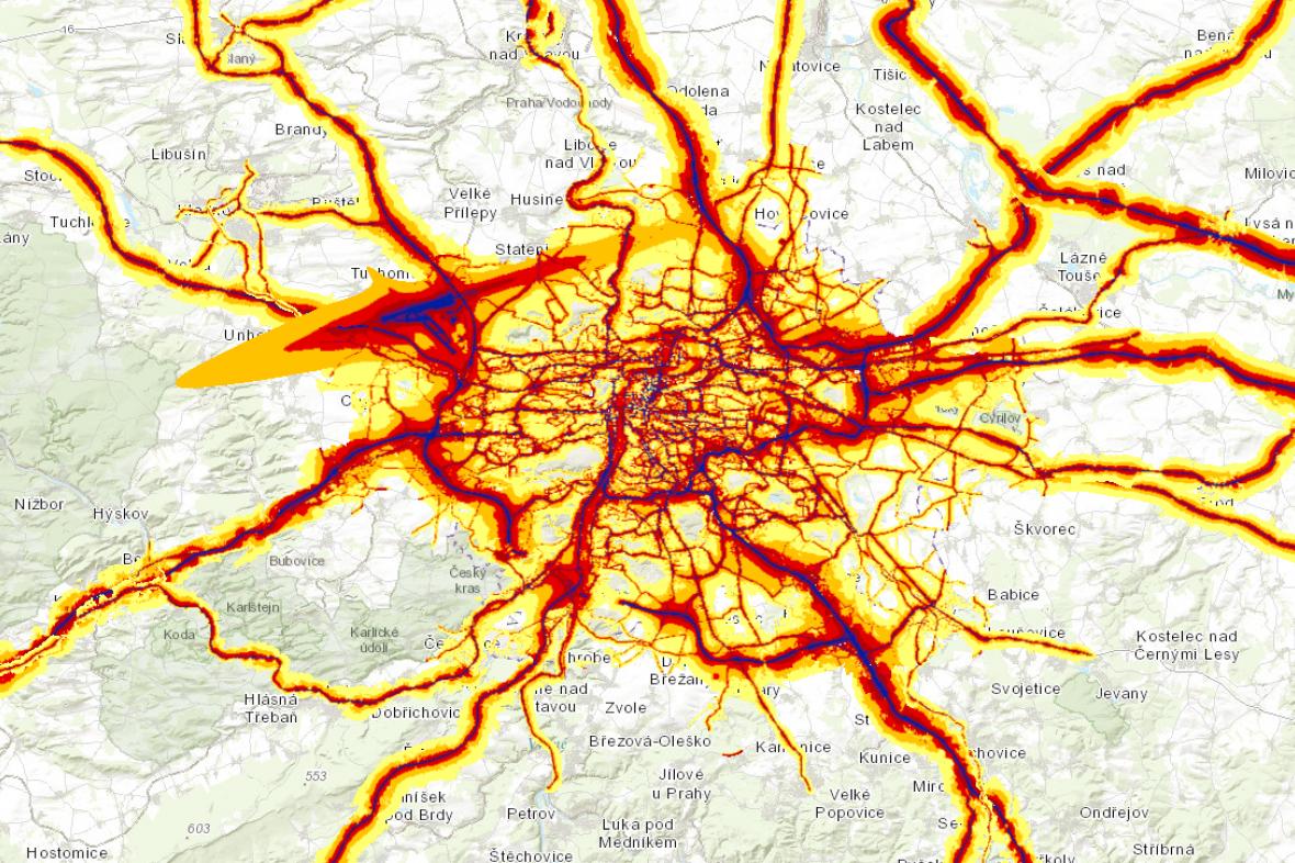 Praha na hlukové mapě