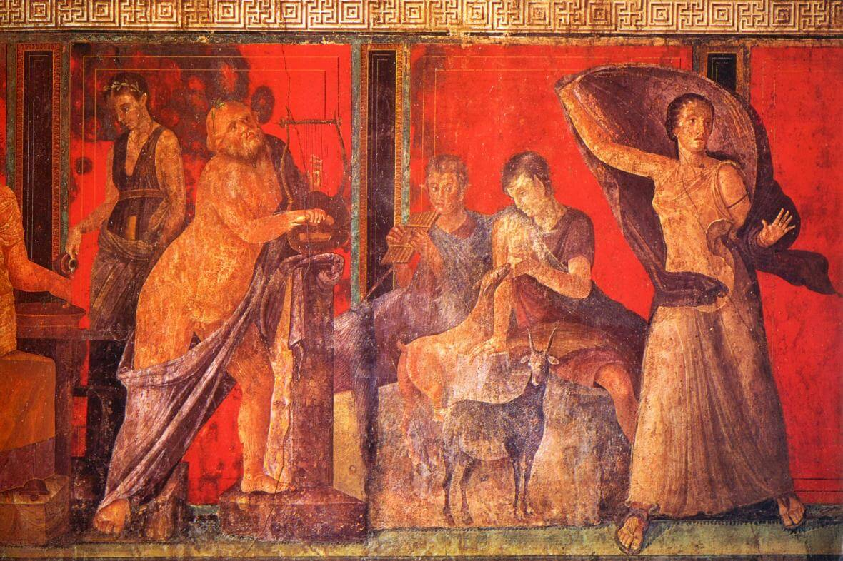 Villa dei misteri v Pompejích