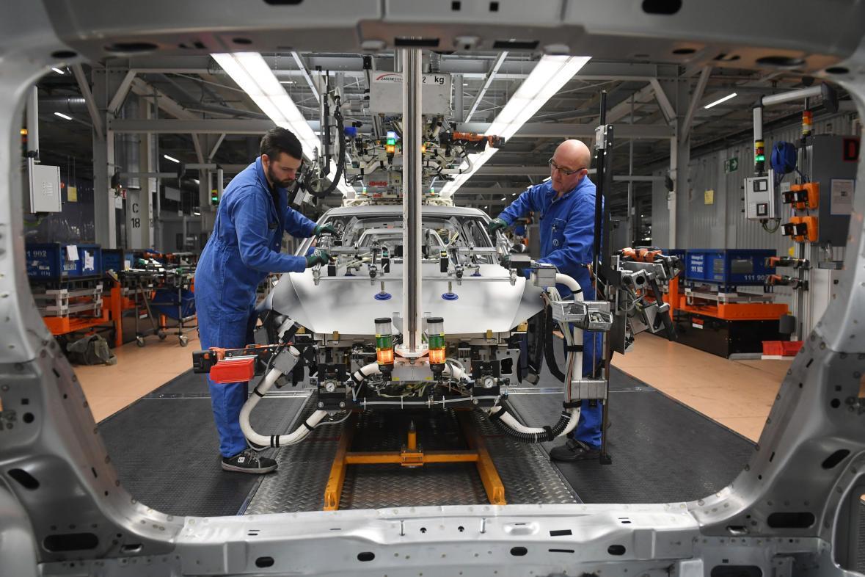 Výroba v německé továrně Volkswagenu