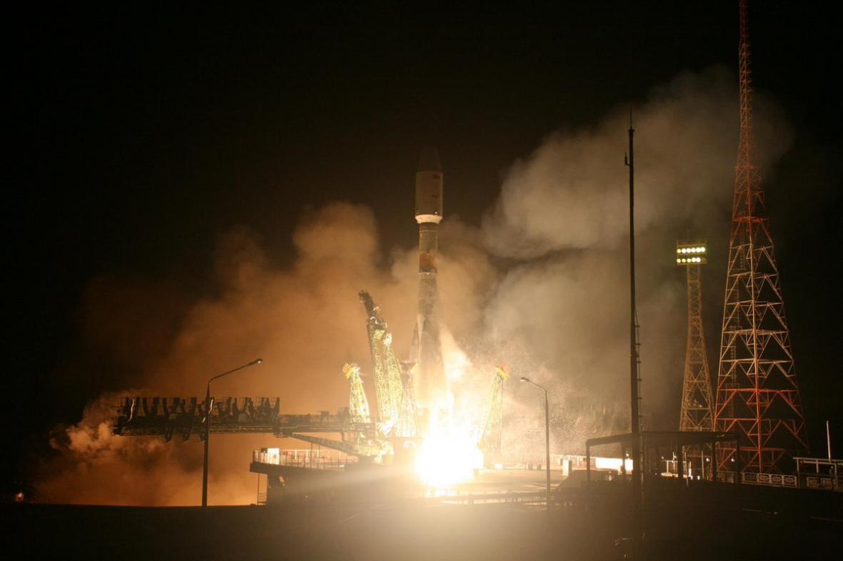 Start Sojuzu-2 s egyptskou družicí