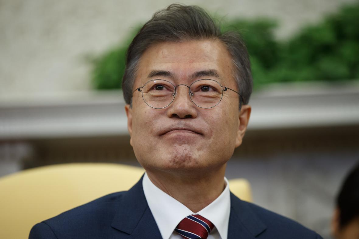 Jihokorejský prezident Mun Če-in