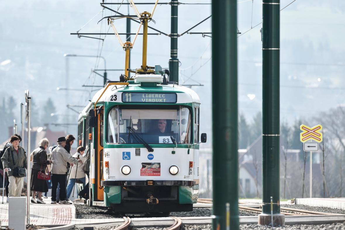 Tramvaj na trati Liberec–Jablonec