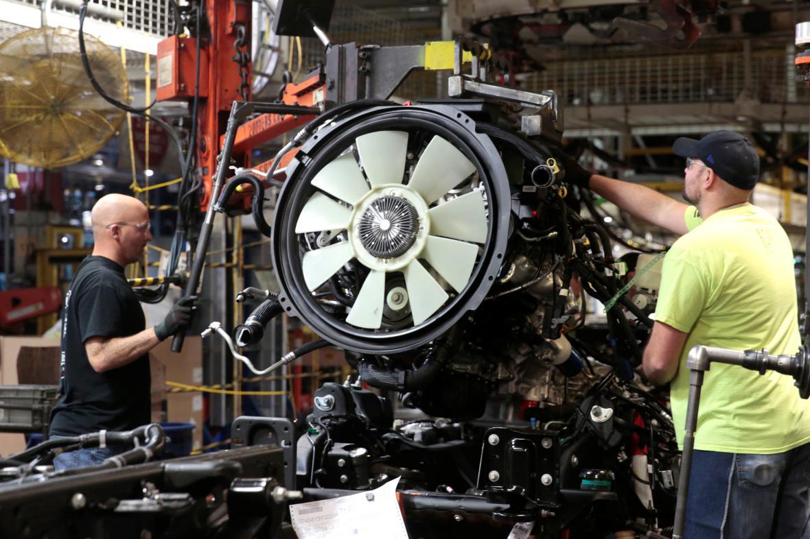 Výroba v závodě GM v Michiganu
