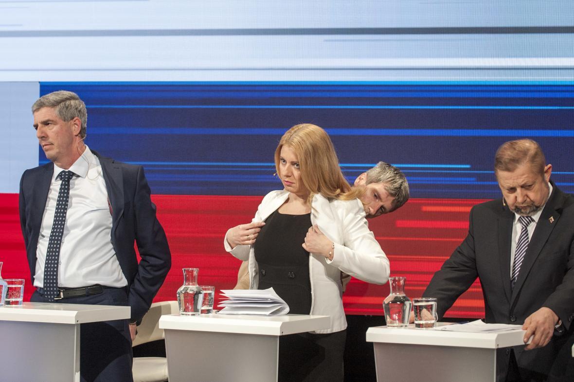Zleva Béla Bugár, Zuzana Čaputová a Štefan Harabin