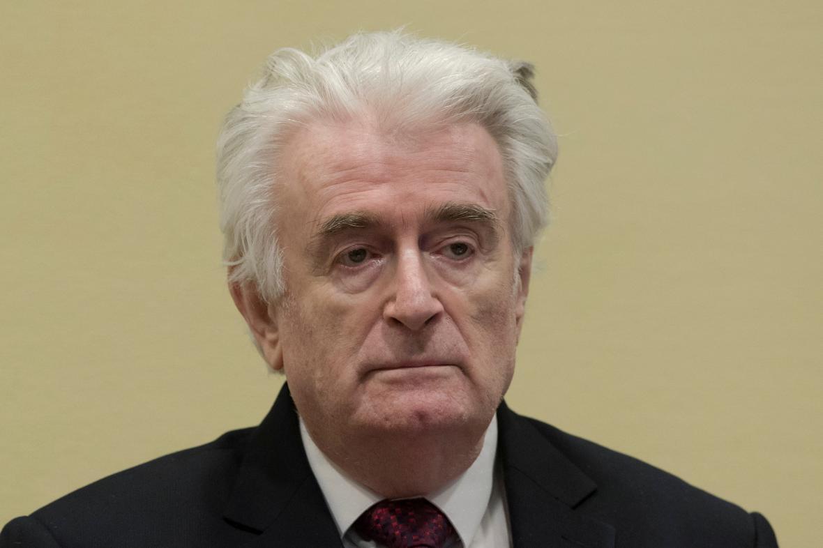 Karadžič u odvolacího soudu v Haagu